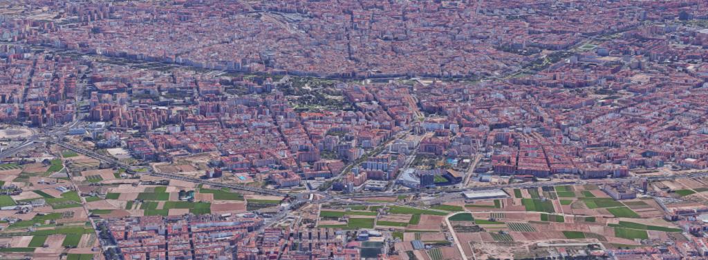 Foto panoràmica dels barris que composen la Junta Municipal d'Exposició